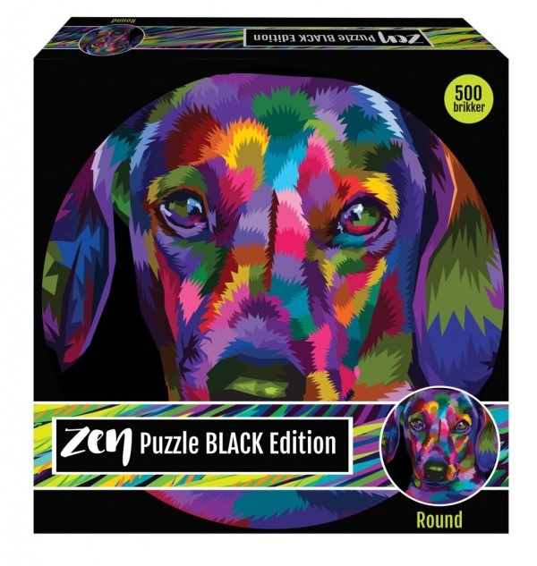 Zen Puzzle Black - Dog 500