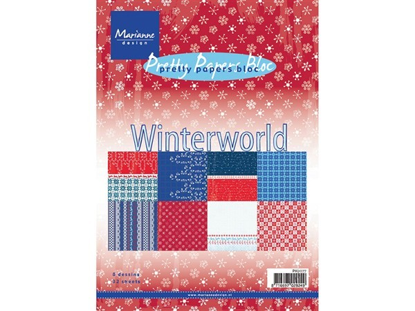 Marianne Design Papirblokk A5 – Winter world