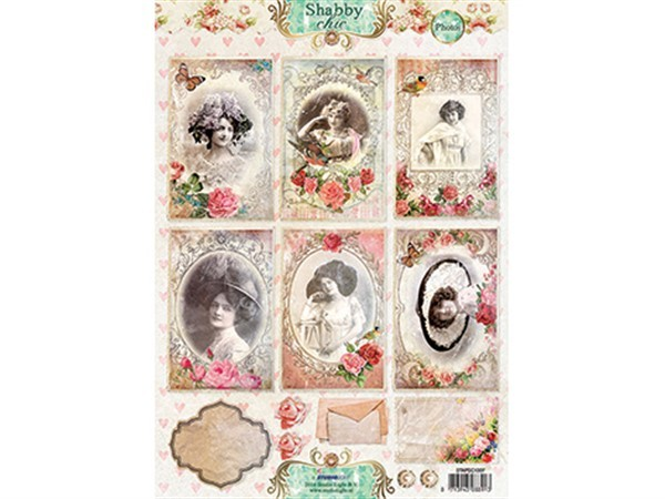 Scrapbooking - Studiolight klippeark - Shabby Chic photos 1307