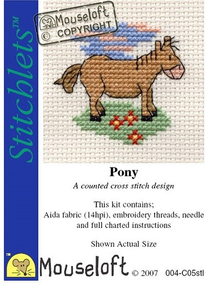 Pony - Mini korssting pakke